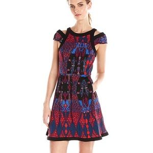 Tracy Reese confetti fit flare dress w pockets.